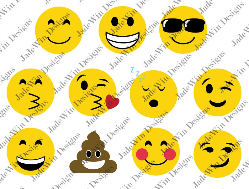 Emoji Compilation Clipart.