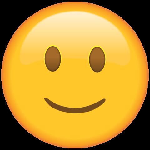 Slightly Smiling Face Emoji.