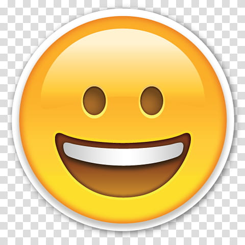 EMOJI STICKER , smiling emoji transparent background PNG.