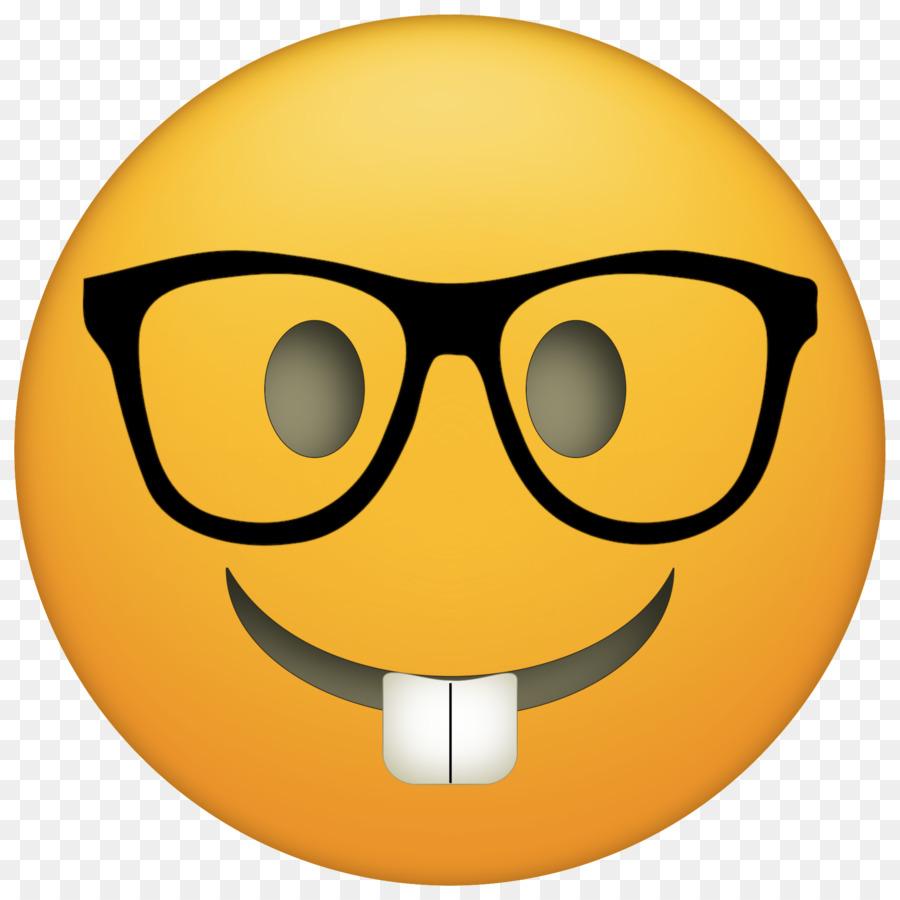 Emoji Nerd clipart.