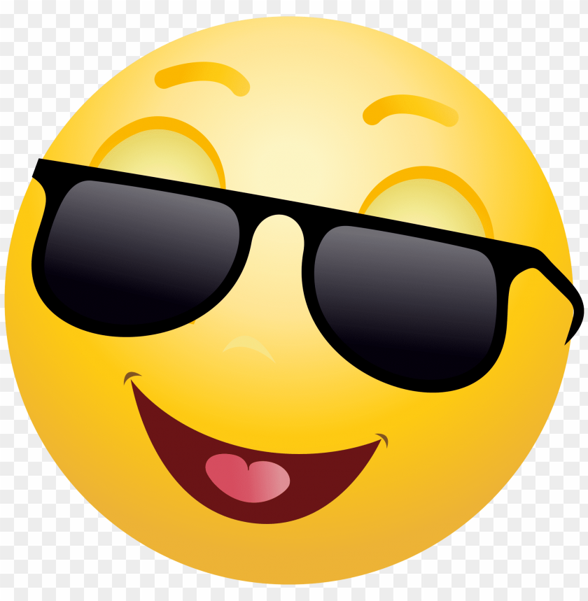 transparent glasses emoji PNG image with transparent background.