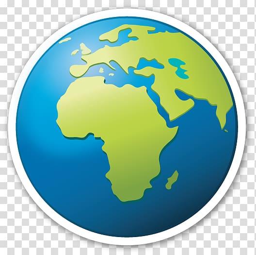 Globe Emoji World Sticker, world geography map transparent.