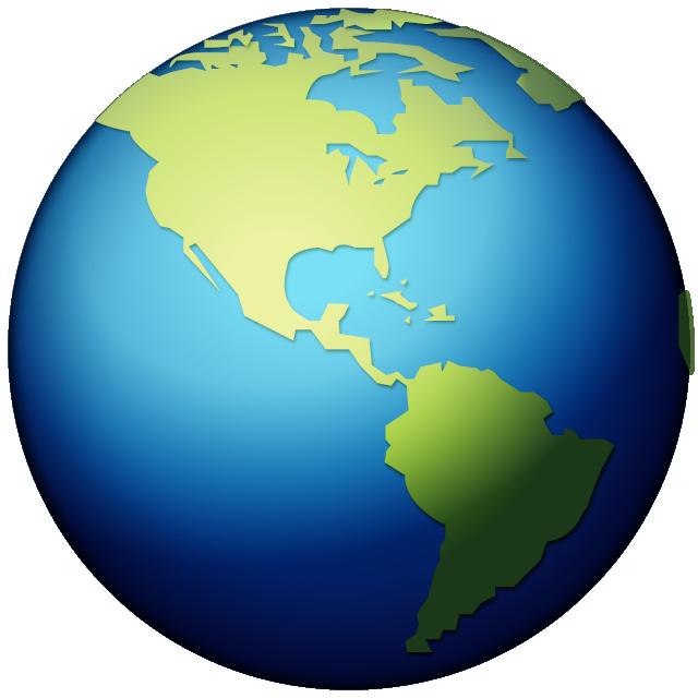 Earth Globe World Emoji Americas.