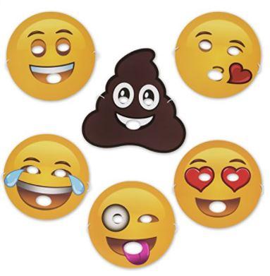 Pack of 12 Emoji Foam Masks Only $9.99!.