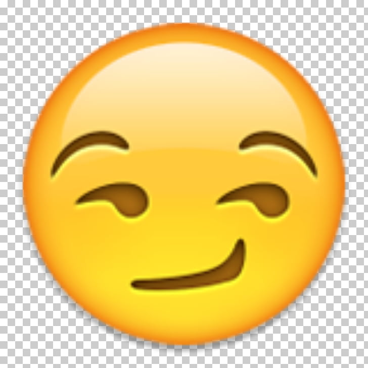 Emoji Smirk Snapchat Smiley, whatsapp emoji, yellow emoji.