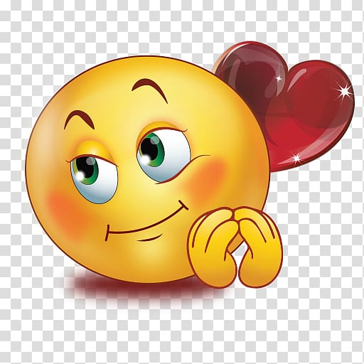 Emoticon Emoji Smiley Love WhatsApp, Emoji transparent.