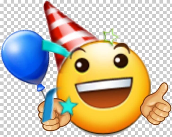 Emoji feliz cumpleaños a ti emoticon sonriente, cumpleaños.