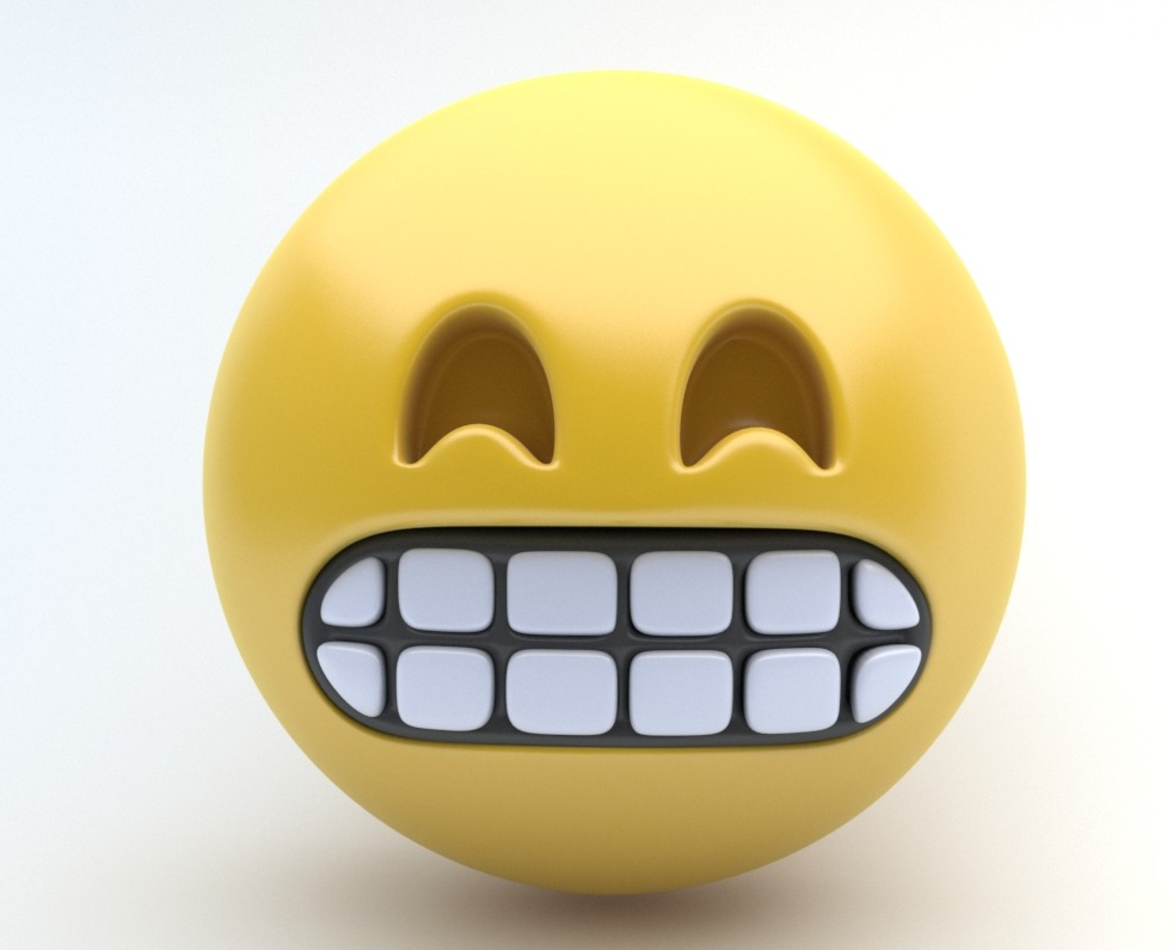Emoji pack 3D Model in Cartoon 3DExport.