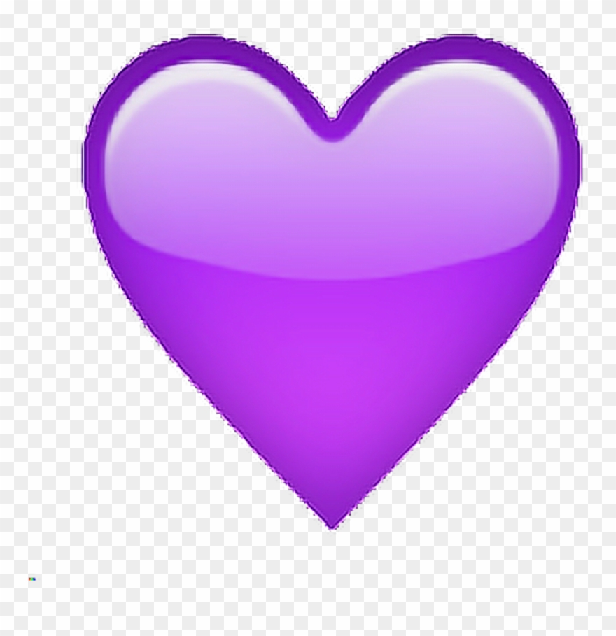 Purple Violet Tumblr Heart Emoji Sticker By Ire.