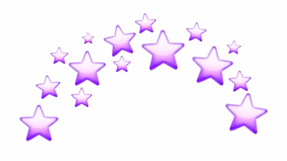 Sticker Stars Star Purple Tumblr Crown Emoji Emojis.