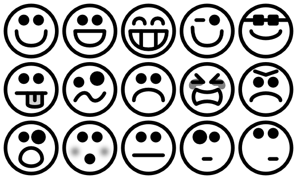 Outline Smiley Icons Clip Art at Clker.com.