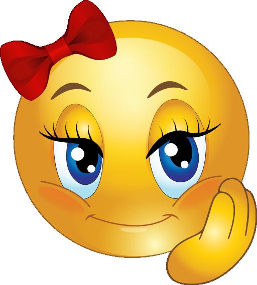 Cute Girl Smiley Faces.