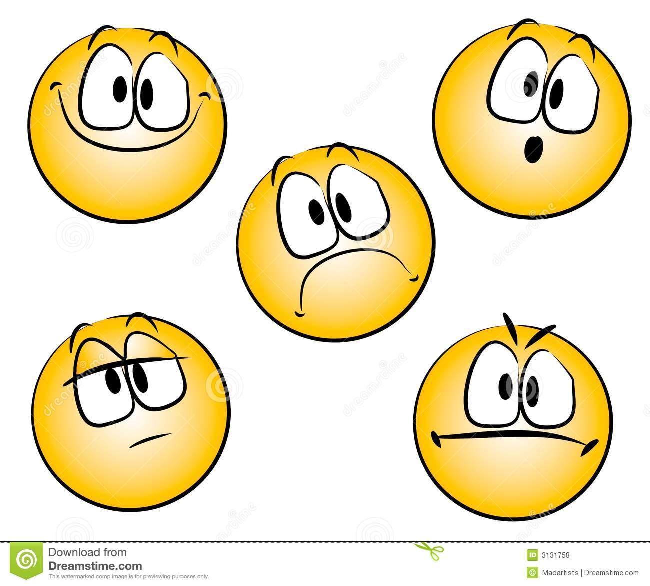 Emoticons Smiley Faces Clipart.