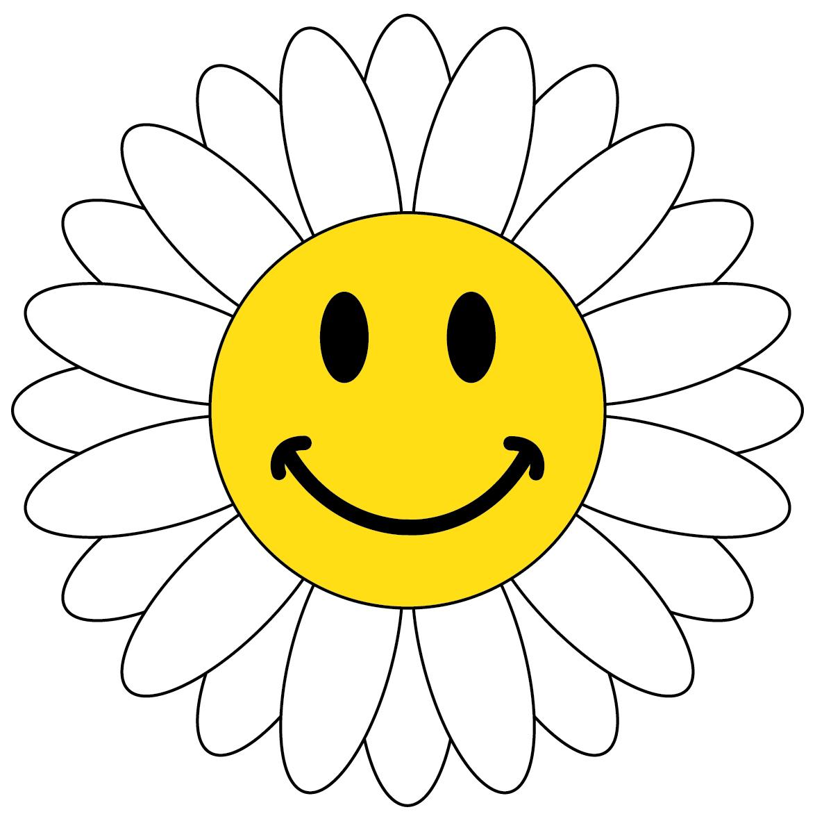 Spring Smiley Emoticon Clipart.