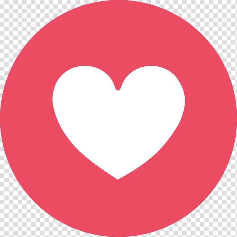 Facebook Messenger Like button, emoji face, heart logo.