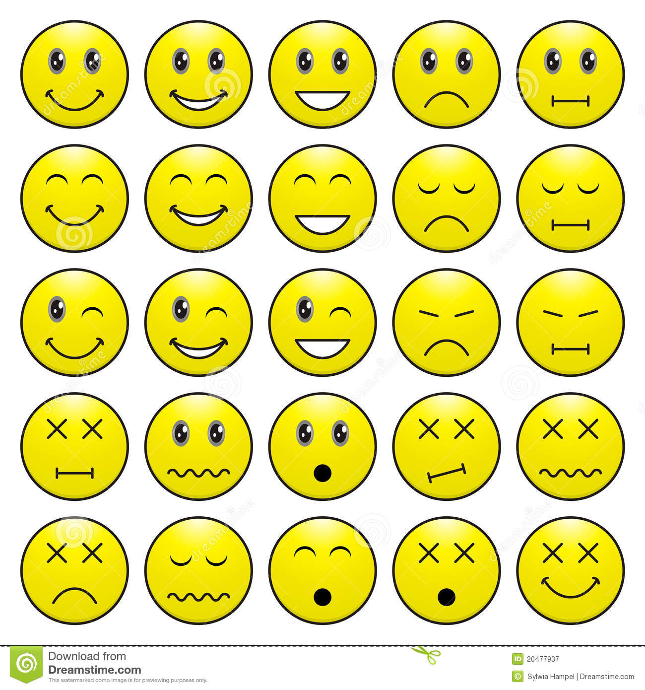 Emotion Expression Clipart.