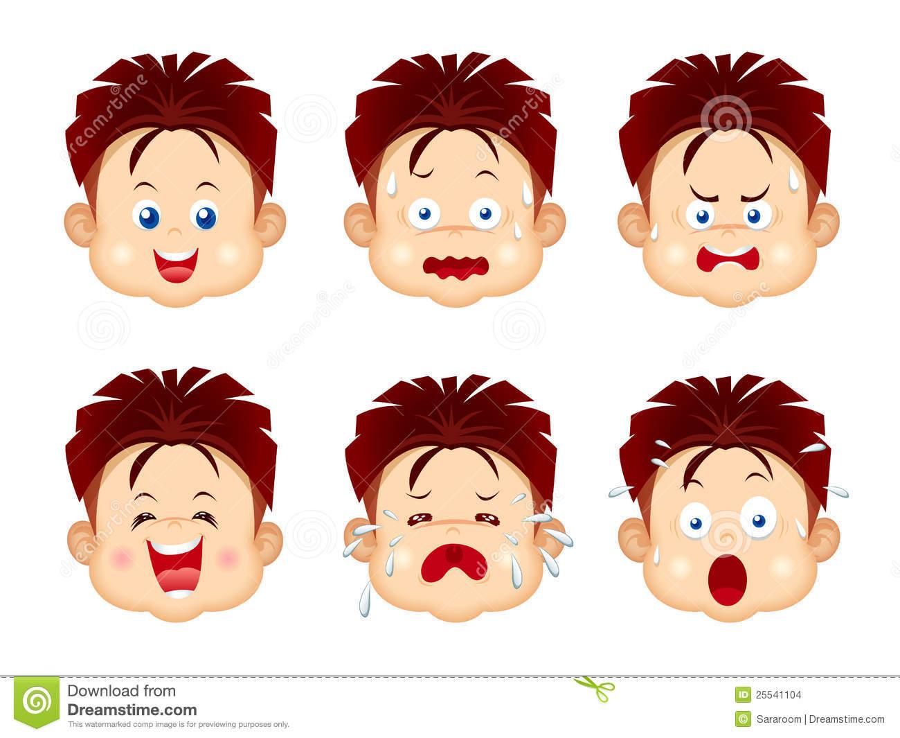 Facial Emotions Free Clipart.