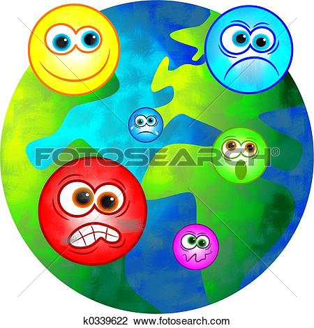 Clip Art of emotional world k0339622.