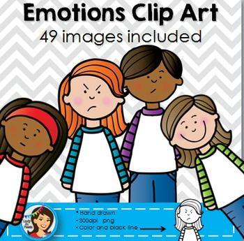 Emotions / Feelings Clip Art.
