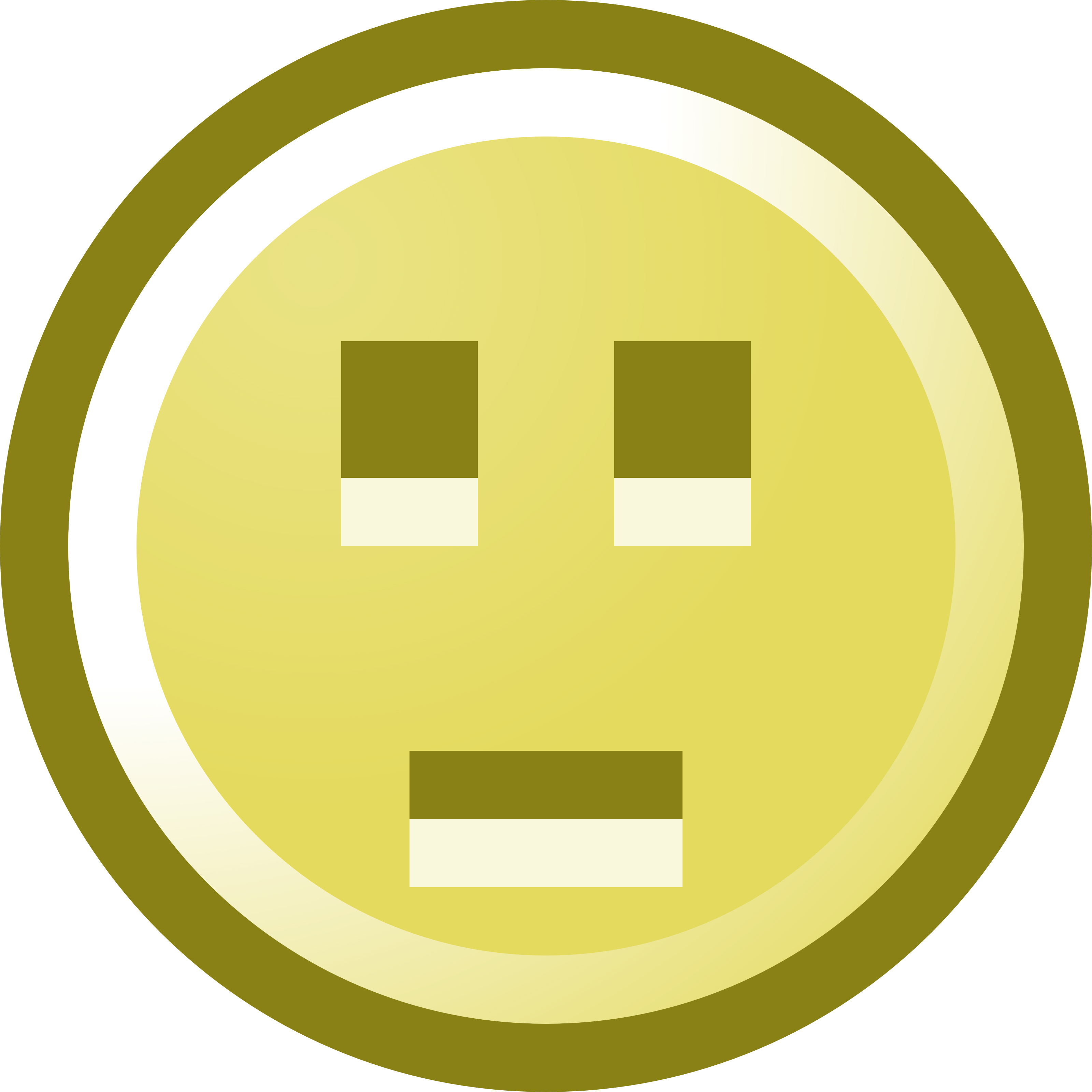 Emotionless Smiley Face Clip Art Illustration.