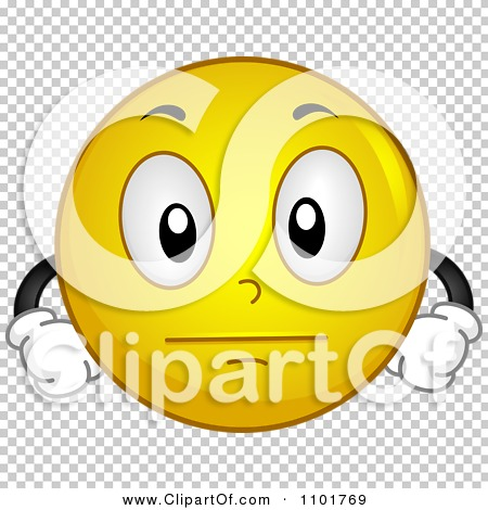 Clipart Emotionless Yellow Smiley.