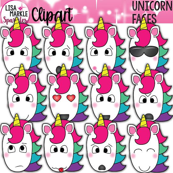 Unicorn Clipart, Unicorn Emoji Clipart, Unicorn Clipart with.