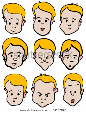 Collection of Emotional clipart.