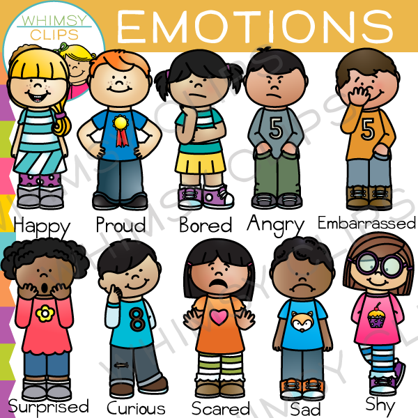 Kids Emotions Clip Art , Images & Illustrations.