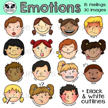Emotions Clip Art Kids.