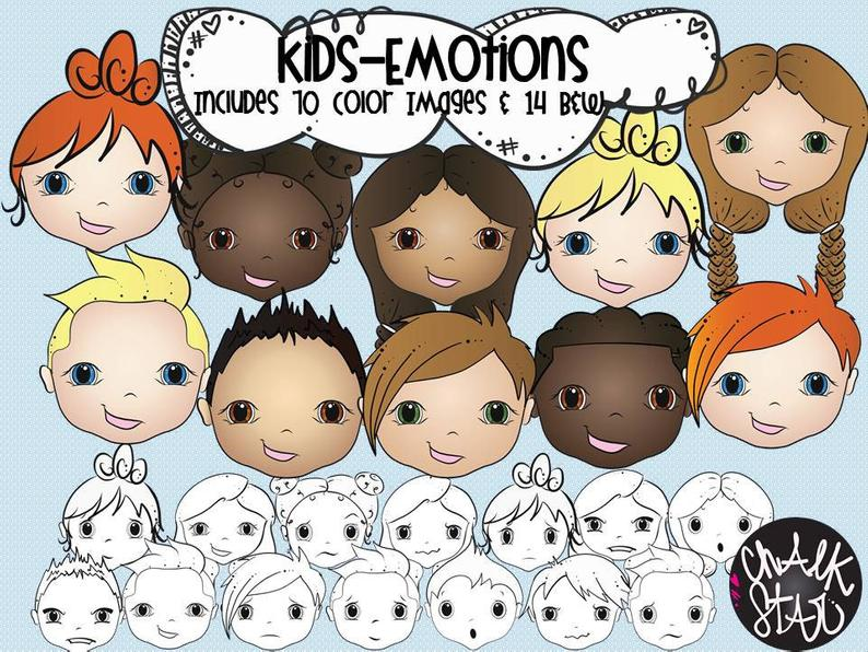 Kids Emotions Clipart.