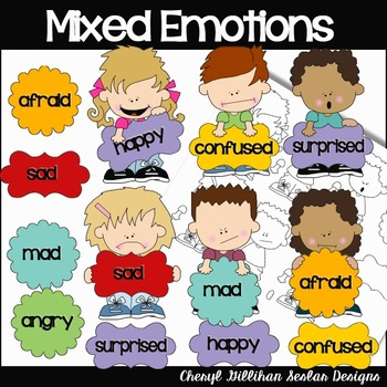 Mixed Emotions Clipart Collection.