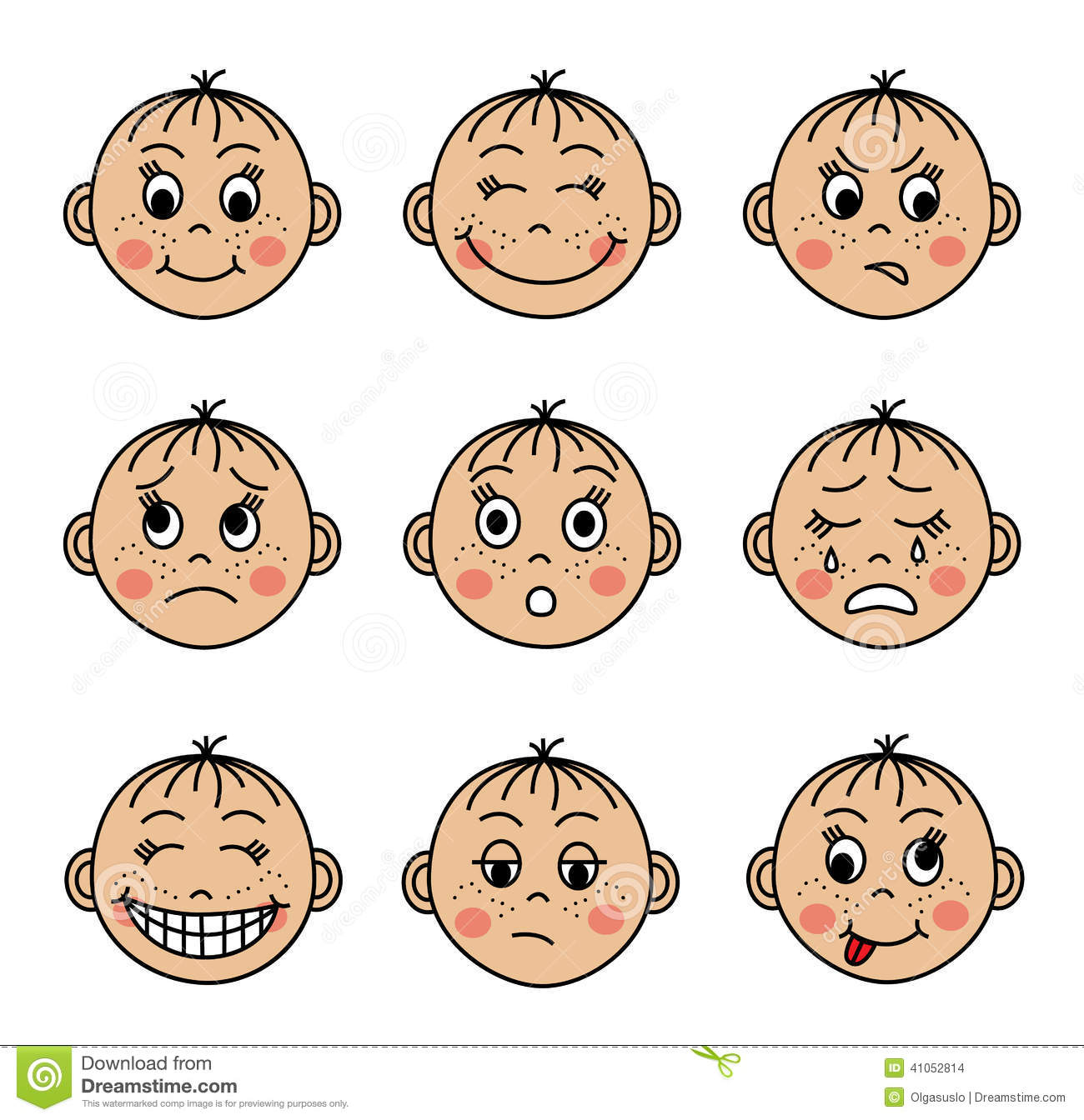 Emotions faces clipart 5 » Clipart Station.