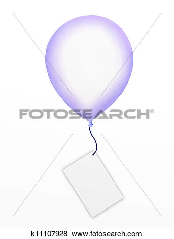 Stock Illustration of Big Balloon with A Blank Tag or Emp.