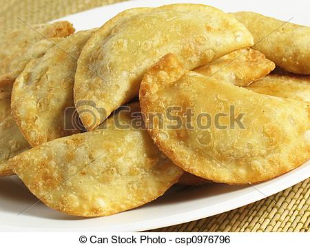 Stock Image of Crispy Empanadas.
