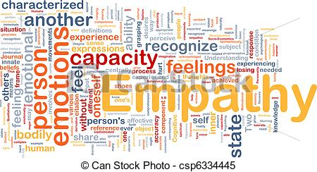 Stock Illustrations of Empathy background concept.