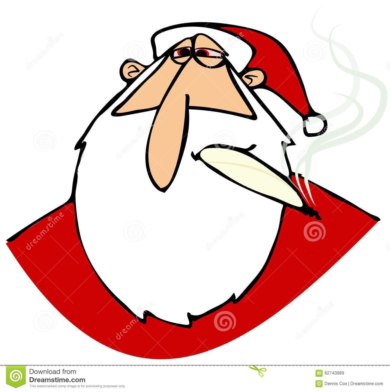 Papá Noel Empedrado Con Los Ojos Rojos Stock de ilustración.