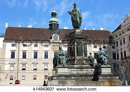 Stock Illustration of Monument to Emperor Franz I Vienna k14943607.