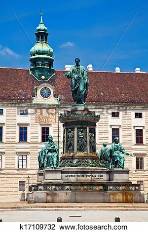 Stock Photo of Monument to Emperor Franz Joseph I in Hofburg.