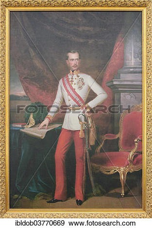 "Stock Photograph of ""Painting of Emperor Franz Joseph I of Austria."