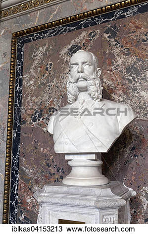 Stock Photo of Bust of Emperor Franz Joseph I., by Caspar Zumbusch.