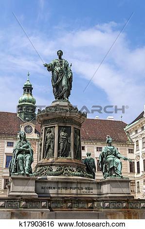 Stock Images of Emperor Franz II, Francis II statue. k17903616.