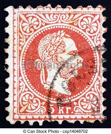 Stock Photography of Postage stamp Austria 1872 Franz Josef.