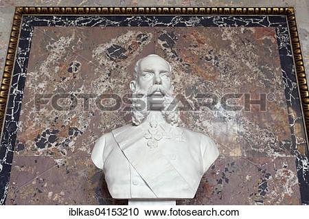Stock Photography of Bust of Emperor Franz Joseph I., by Caspar.