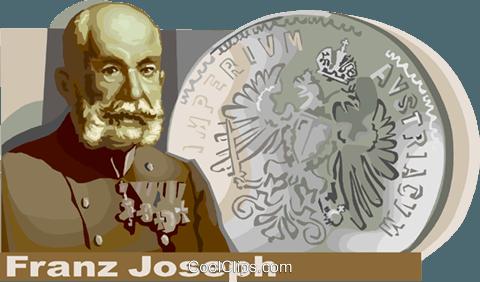 Franz Joseph, Emperor of Austria Hungary Royalty Free Vector Clip.