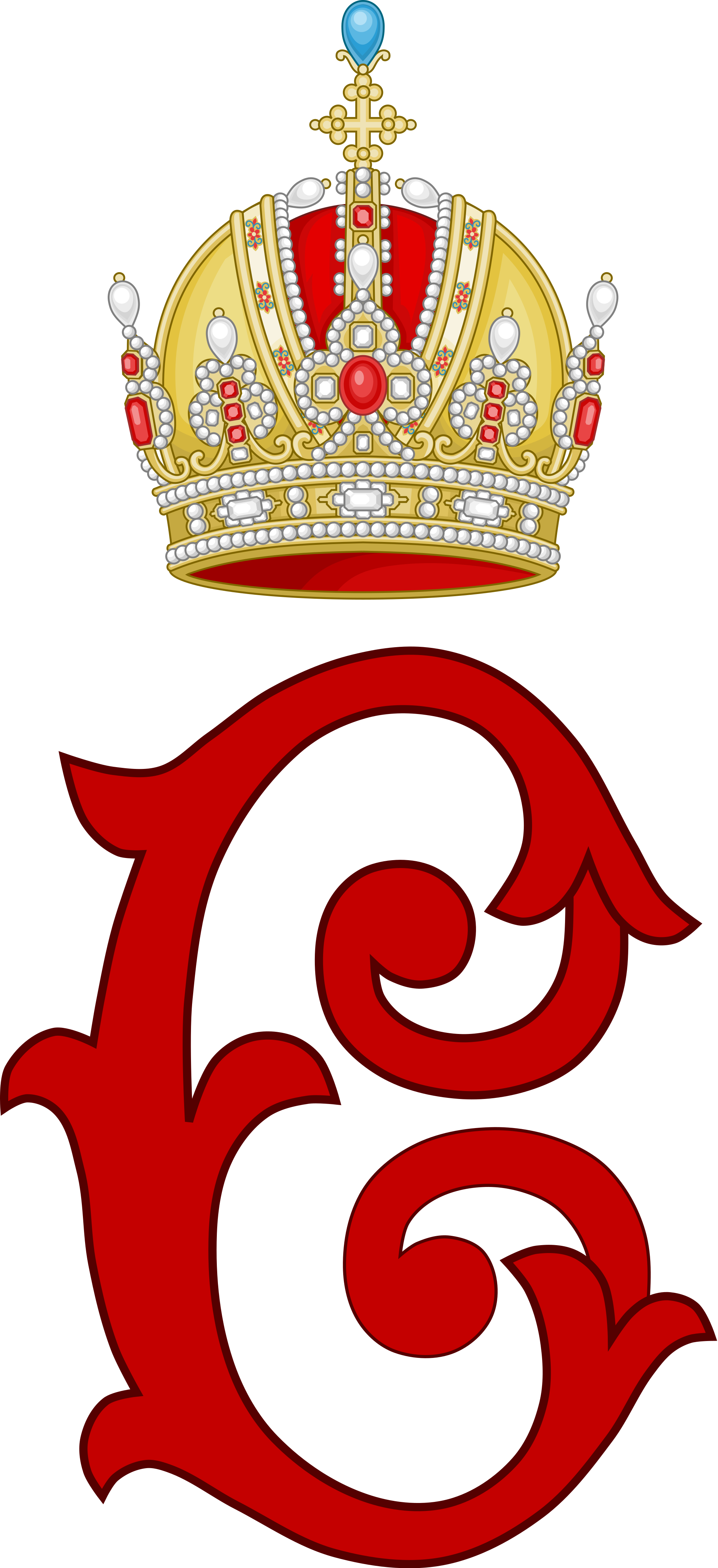 File:Imperial Monogram of Emperor Charles I of Austria, Variant 2.