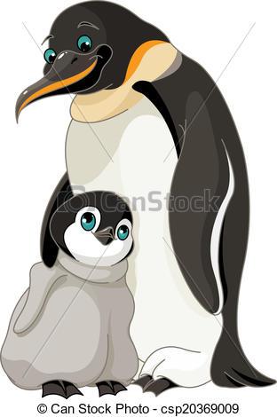 Emperor penguins Clipart Vector Graphics. 354 Emperor penguins EPS.