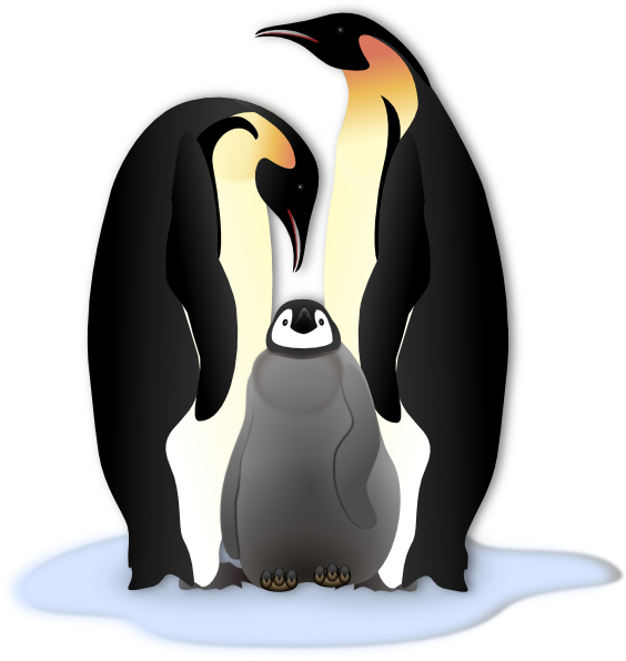 Emperor penguin clip art.
