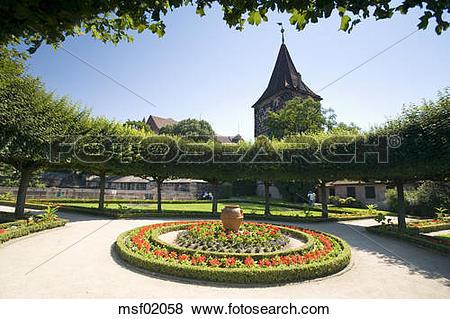Pictures of Germany, Nuremberg, Garden of the Emperor´s Castle.