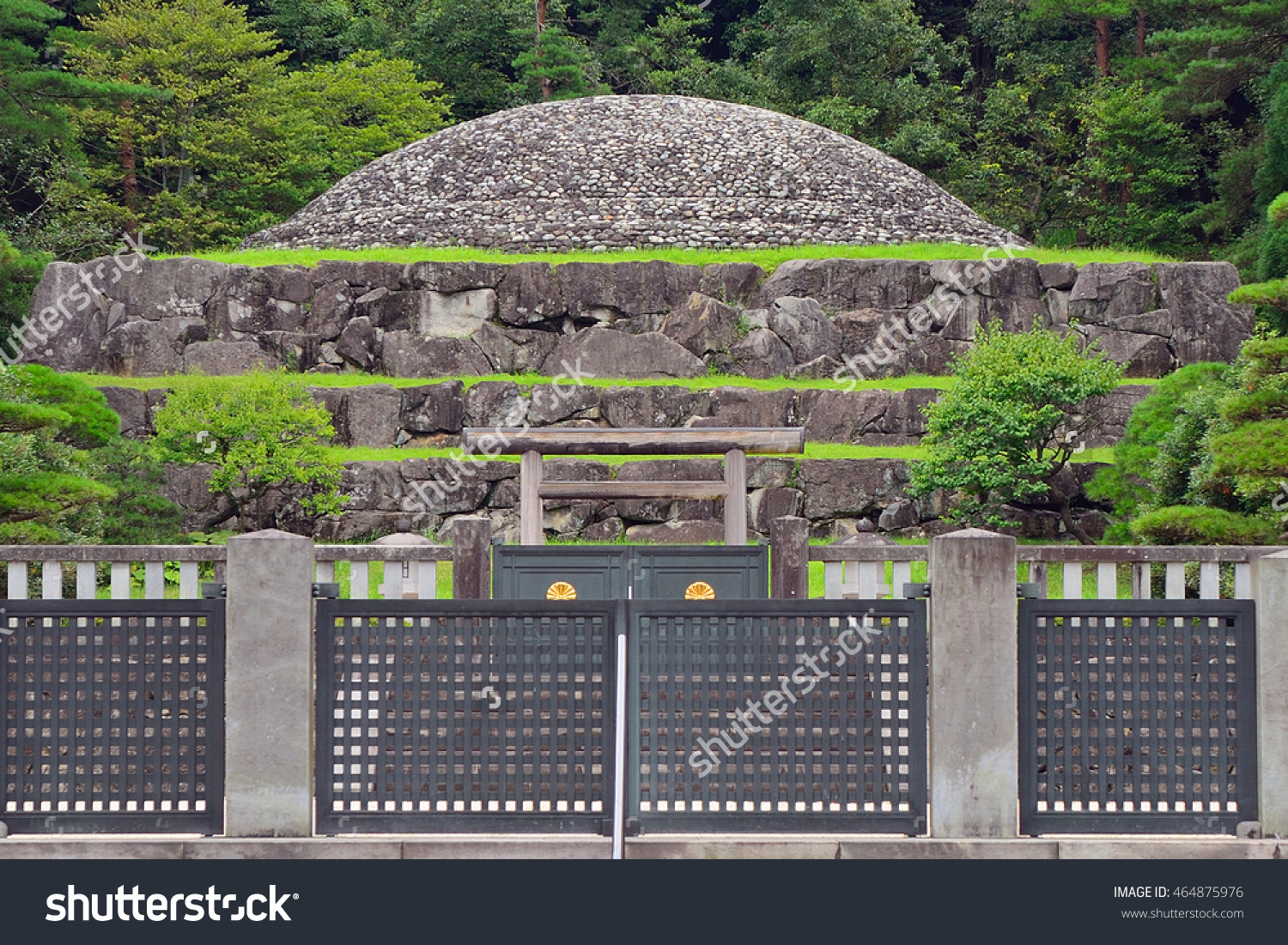 Hachioji Japan July 23 Tomb Emperor Stock Photo 464875976.