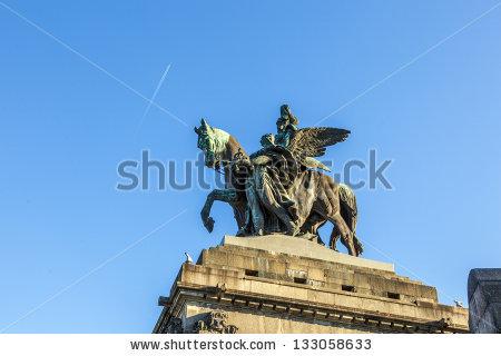 Emperor I Statue Wilhelm Stock Photos, Royalty.